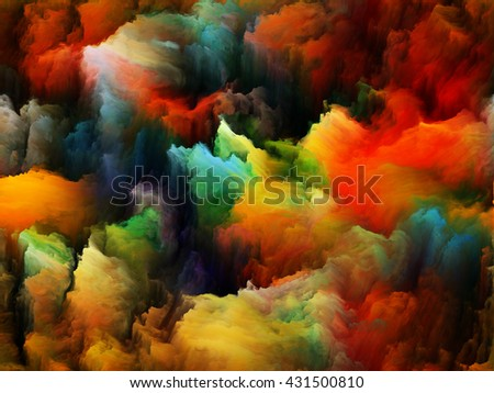 Tragedy of Color series. Interplay of pure color forms on the subject of art, passion, spirituality and inner world - stock photo