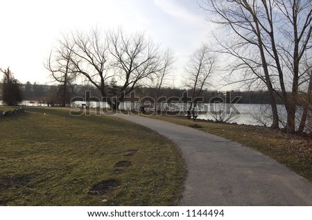 Trail By Water - stock photo