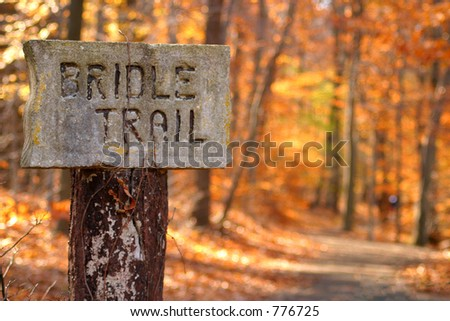 Trail Head - stock photo