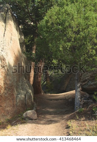 Trail in Rocky Mountain National Park, Colorado