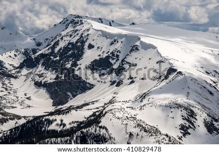 Trail Ridge Road Snow 4 - stock photo