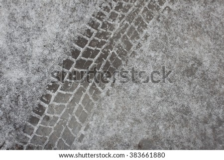 Trail tires on ice - stock photo