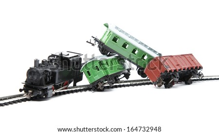 Train accident - stock photo