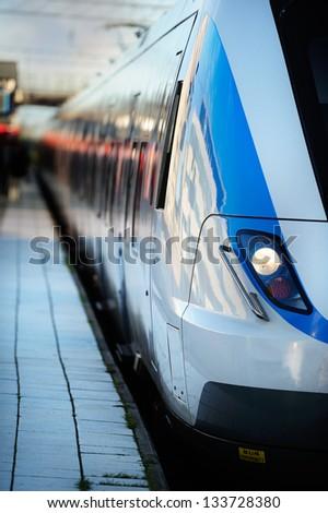 Train at platform - stock photo