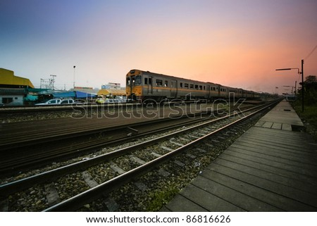 train at twilight