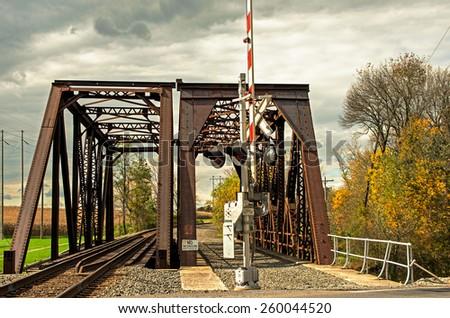 Train bridge in Pennsylvania - stock photo