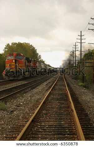Train crash in Painesville Ohio 10-9-07
