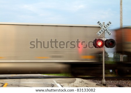 Train crossing in front of signal