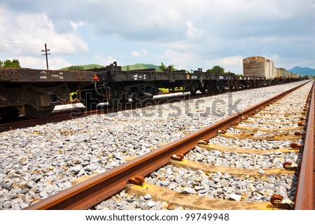 train for transport - stock photo