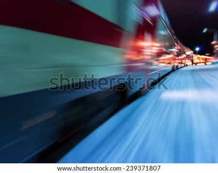 Train in motion abstraction