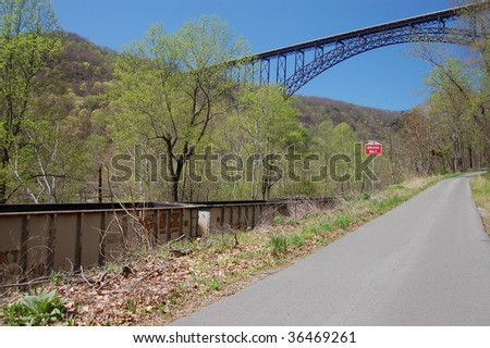 Train In The Gorge - stock photo