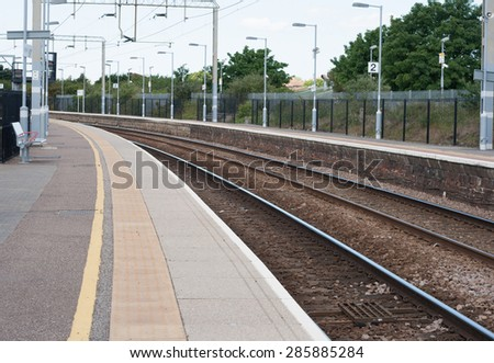 train line - stock photo