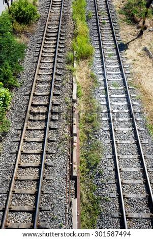 train rail in Bangkok - stock photo