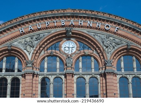 Train Station Bremen - stock photo