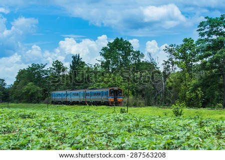 Train Thailand - Throughout 125 years, rail service. Although the trains are old and dilapidated, but it is the best choice of the people downstairs in Thailand. -15 June 2015 - stock photo