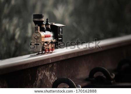 train toy model  - stock photo