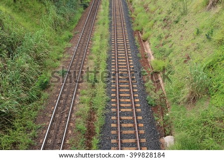 Train track in america - stock photo