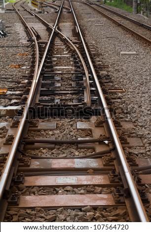 Train tracks - stock photo