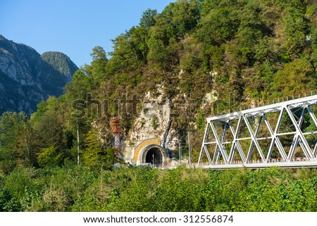 Train Tunnel - Russia, Sochi - stock photo