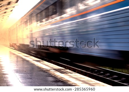 train with motion blur