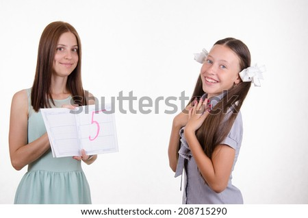 Trainee passed tests on five - stock photo