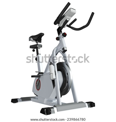 Trainer. Standing body-builder. Training apparatus. Perspective view from back. - stock photo