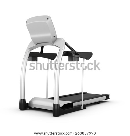 Trainer treadmill isolated on white background. 3d render image,