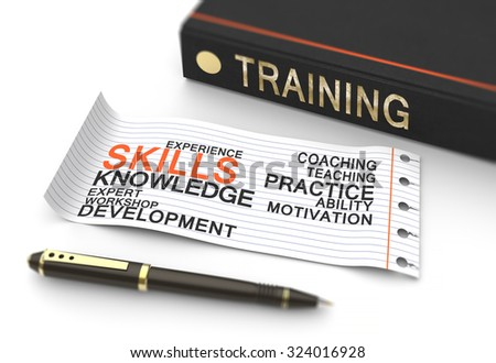 Training and development as a business concept - stock photo