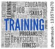 Training and education related words concept in tag cloud - stock vector