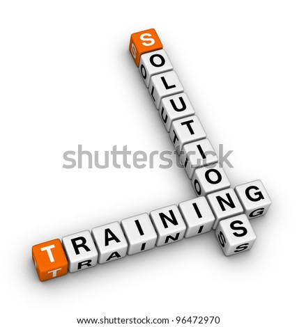 training and solution - stock photo