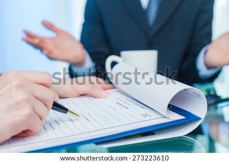 Training, Business, Interview. - stock photo