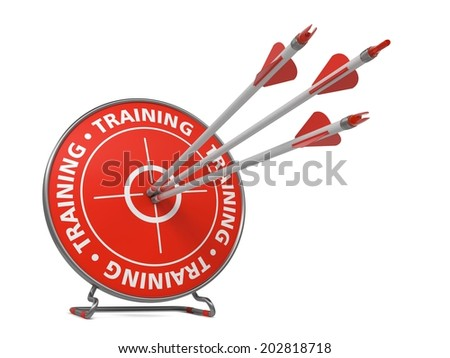 Training Concept - Three Arrows Hit in Red Target.