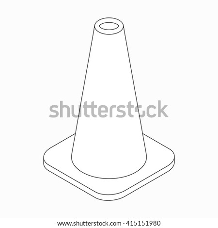 Training cone icon, isometric 3d style  - stock photo