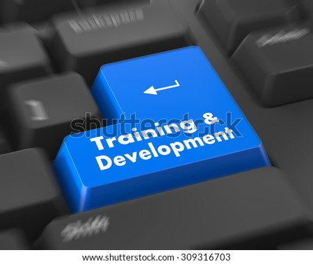 Training & Development - Button on Modern Computer Keyboard.