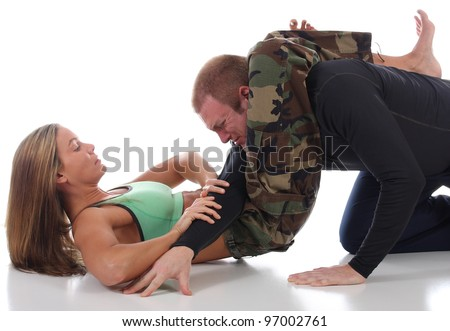 Training for Deadly Combat - stock photo