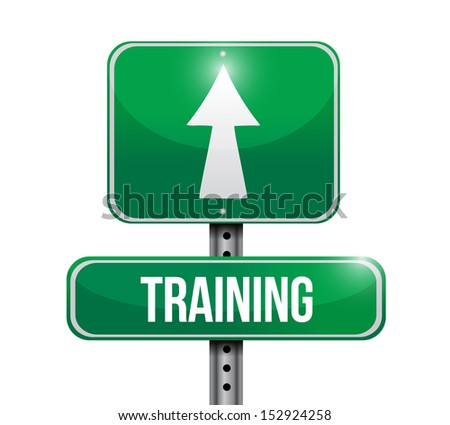 training road sign illustration design over a white background - stock photo