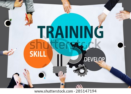 Training Skill Develop Ability Expertise Concept - stock photo