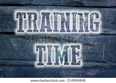 Training Time Concept text on background - stock photo