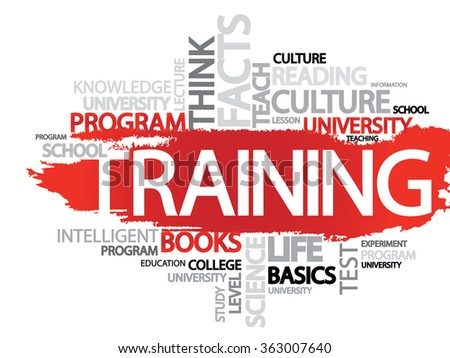 TRAINING. Word business collage background   - stock photo