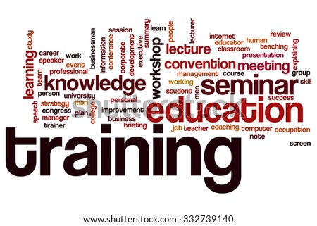 Training word cloud - stock photo