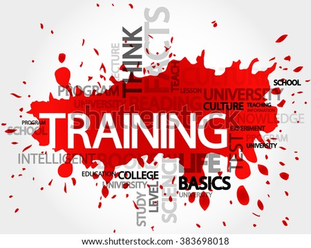 TRAINING word cloud, education concept - stock photo