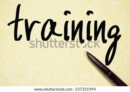 training word write on paper  - stock photo