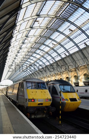 Trains in station - stock photo