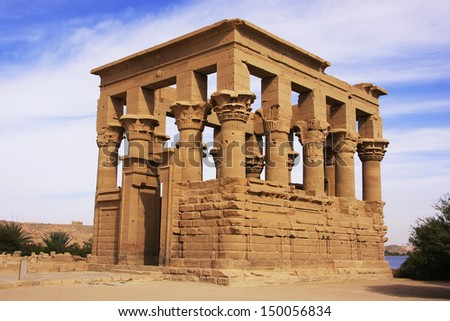 Trajan kiosk, Philae Temple, Lake Nasser, Egypt - stock photo
