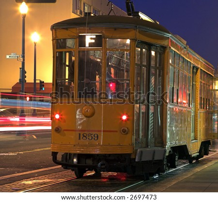 Tram At Fisherman's Wharf (San Francisco) - stock photo
