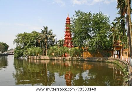 Tran Quoc Pagoda, Hanoi, Vietnam - stock photo
