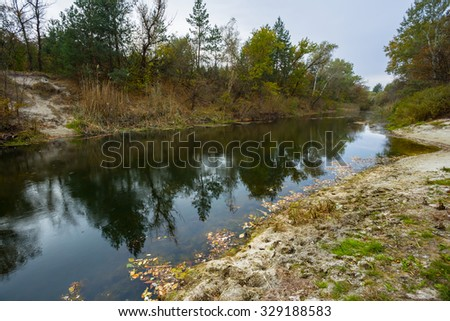 tranquil autumn river