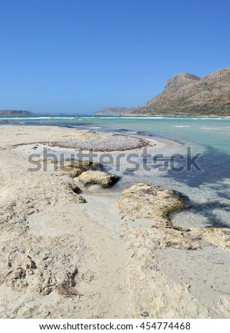 Tranquil Beach Scene at Balos Lagoon