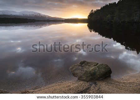 Tranquil Loch Garten. - stock photo