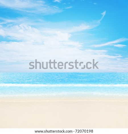 Tranquil tropical beach